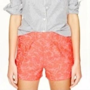 J. Crew high waist jacquard coral shorts 12